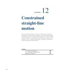 Constrained straight-line motion