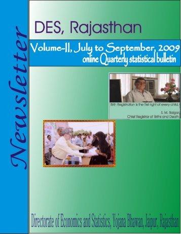 Directorate of Economics and Statistics, Yojana Bhawan, Jaipur ...