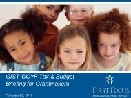 Children in the Budget - GIST: Grantmakers Income Security Taskforce