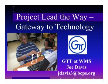 Project Lead the Way – Gateway to Technology