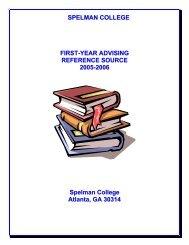 Advising Guidebook - Spelman College: Home
