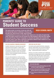 High School Math - Ohio PTA Common Core
