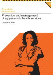 Prevention and management of aggression in health services