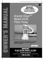 Model 637R (1000 gph) Filter Pump - USA - Intex Development ...