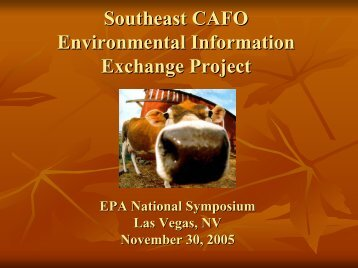 Southeast CAFO Environmental Information Exchange Project ...