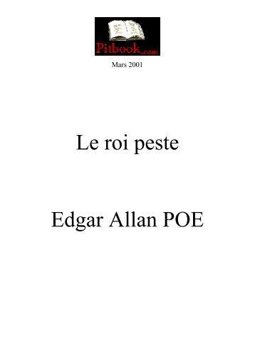 Le roi peste Edgar Allan POE - Pitbook.com