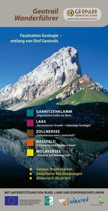 """Leseprobe """"Geotrail Wanderführer"""" - Geopark Karnische Alpen"""