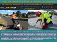 Why Leak Detection in North Charleston SC is Necessary