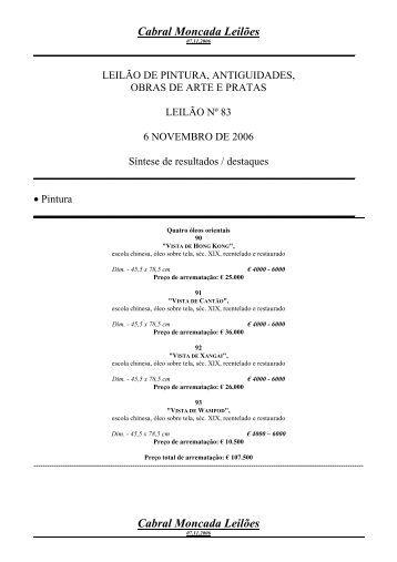 Destaques - Cabral Moncada Leilões