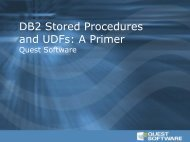 DB2 Stored Procedures and UDFs: A Primer - Quest Software