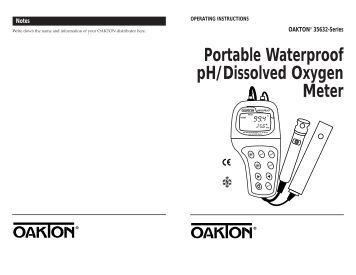 oakton 700 ph meter manual