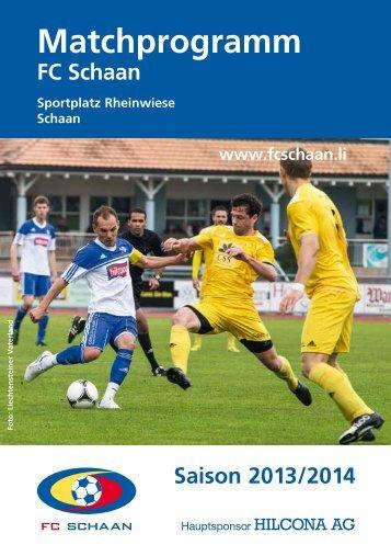 Zum Matchprogramm 2013/14 - FC Schaan