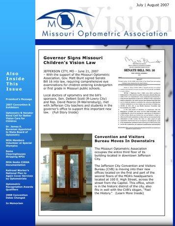 July   August - Missouri Optometric Association