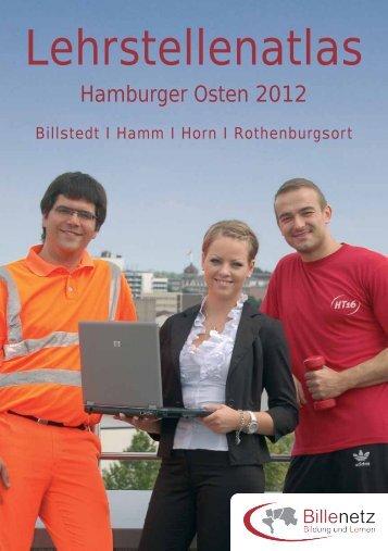 Lehrstellenatlas Hamburger Osten 2012. - ESF für Jugendliche