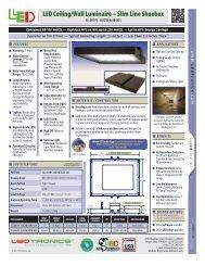 LED Ceiling/Wall Luminaire – Slim Line Shoebox - Ledtronics Price ...