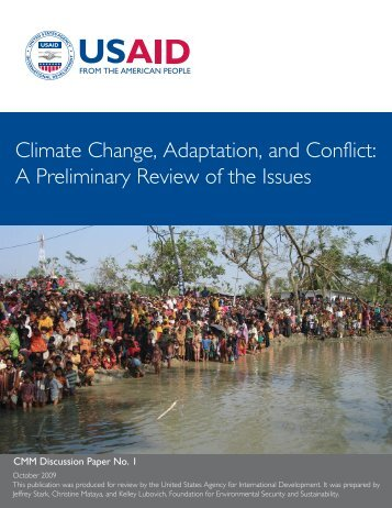 Climate Change, Adaptation, and Conflict - FESS :: Foundation for ...