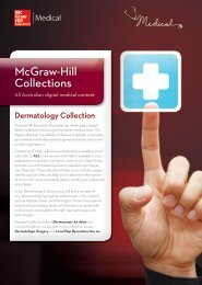 Dermatology Collection - McGraw-Hill Education Australia & New ...
