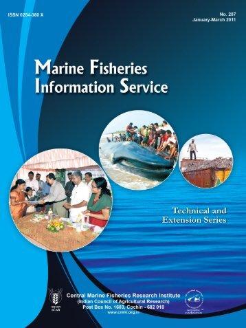 Marine Fisheries Information Service - Eprints@CMFRI - Central ...