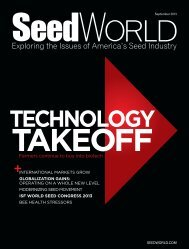 Farmers continue to buy into biotech - Seed World
