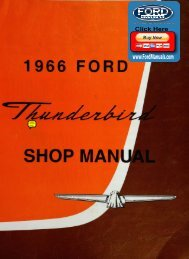 DEMO - 1966 Ford Thunderbird Shop Manual - FordManuals.com