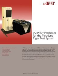 in2Pro Tiger Manipulator Data Sheet - InTest Corporation