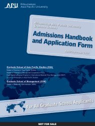 Admissions Handbook and Application Form