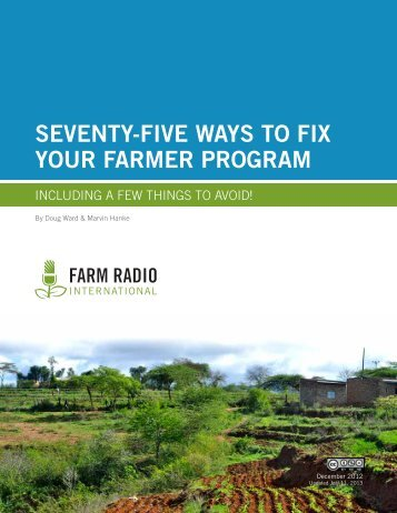 seventy-five ways to fix your farmer program - Farm Radio International