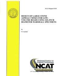 Design of Large Stone Asphalt Mixes for Low ... - Auburn University