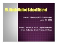 2012-13 Proposed Budget Presentation - Mt. Diablo Unified School ...
