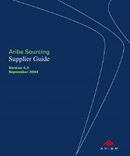 Ariba Sourcing 4.3 Supplier Guide