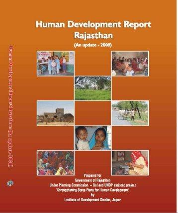 Human Development Report Rajasthan - Directorate of Economics ...