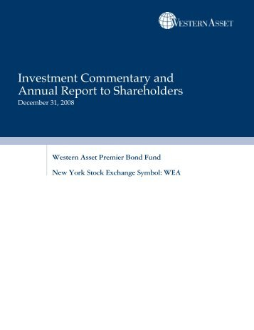 Investment Commentary and Annual Report to ... - Western Asset