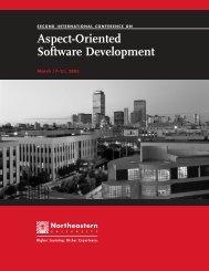 12.02.17 AO Conf Brochure/f.qxd - Aspect-Oriented Software ...