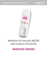 vartotojo vadovą rasite čia - MEZON