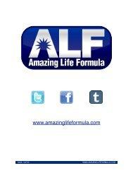 Introduction What is the Amazing Life Formula? - Pura Vida MultiMedia
