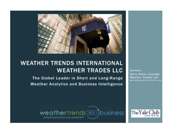 weather trends international weather trades llc - Market Research ...