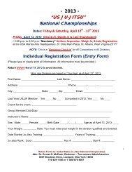 Entry Form - United States Ju-Jitsu Federation
