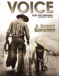 A Rusty Roundup A Rusty Roundup - Voice For The Defense Online