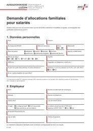 Demande d'allocations familiales pour salariés - Ausgleichskasse ...