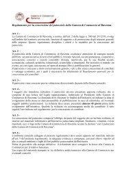 Scarica il Regolamento per la concessione dei patrocini - Camera di ...