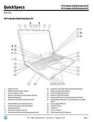 HP ProBook 4440s/1s Notebook PC HP ProBook 4540s Notebook