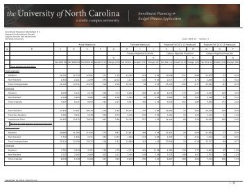 Enrollment Projection Worksheet # 1 Request For Enrollment ...