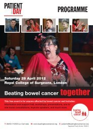 Download Patient Day 2012 Programme - Beating Bowel Cancer
