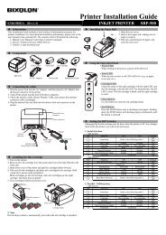 Printer Installation Guide - BIXOLON