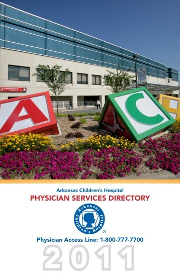 PHYSICIAN SERVICES DIRECTORY - Arkansas Children's Hospital
