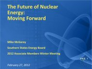 The Future of Nuclear Energy: Moving Forward - Southern States ...