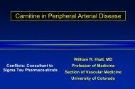 Carnitine in Peripheral Arterial Disease