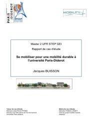 Se mobiliser pour une mobilité durable à l'université Paris-Diderot