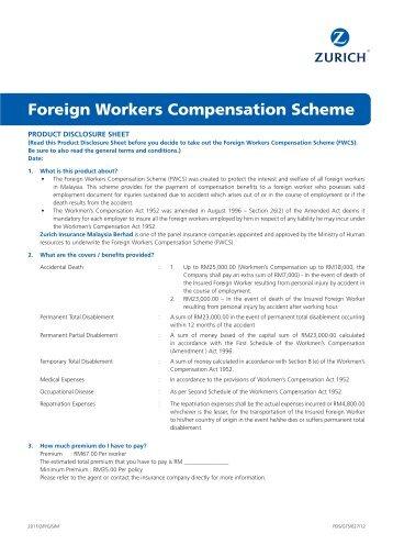 Foreign Workers Compensation Scheme - Zurich