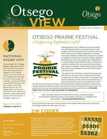 Summer 2013 - City of Otsego, Minnesota